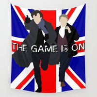 sherlock Wall Tapestries featuring Sherlock by Darth Paul