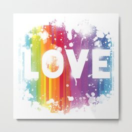 For Love - White Background Metal Print