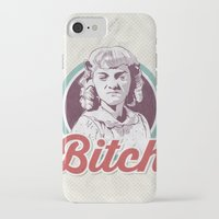 bitch iPhone & iPod Cases featuring Bitch by jnk2007