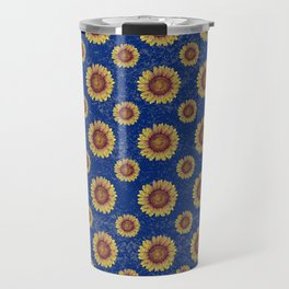 Swirly Sunflower Travel Mug