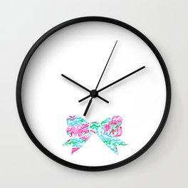 Lilly Pulitzer Bow Wall Clock
