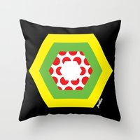 tour de france Throw Pillows featuring Tour de France Jerseys by Pedlin