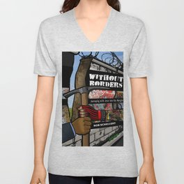 Without Borders with Titles Unisex V-Neck