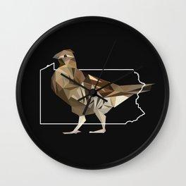Pennsylvania – Ruffed Grouse (Black) Wall Clock