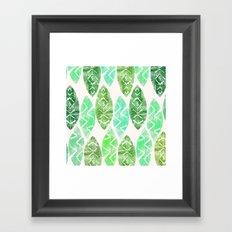 crazy leaves Framed Art Print