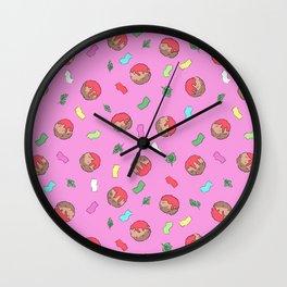 Confetti and Meatballs Wall Clock