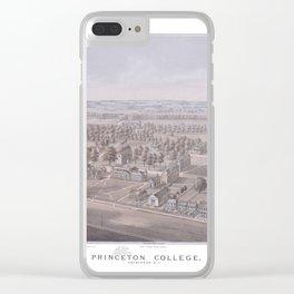 PRINCETON College map NEW JERSEY dorm decor graduate Clear iPhone Case