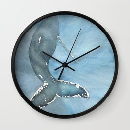 Watercolor Humpback Whale Wall Clock