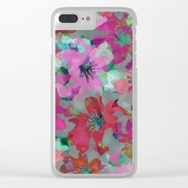 Lily Blooms Clear iPhone Case