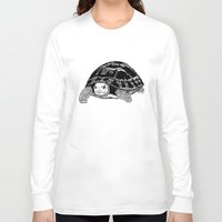 tortoise Long Sleeve T-shirts featuring Tortoise by Emma Barker