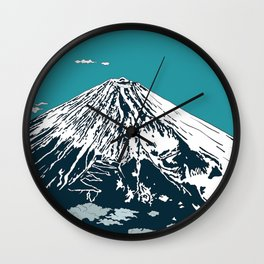 Mount Fuji from the Sky Wall Clock