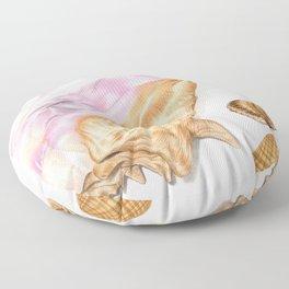 Seashells 01 Floor Pillow
