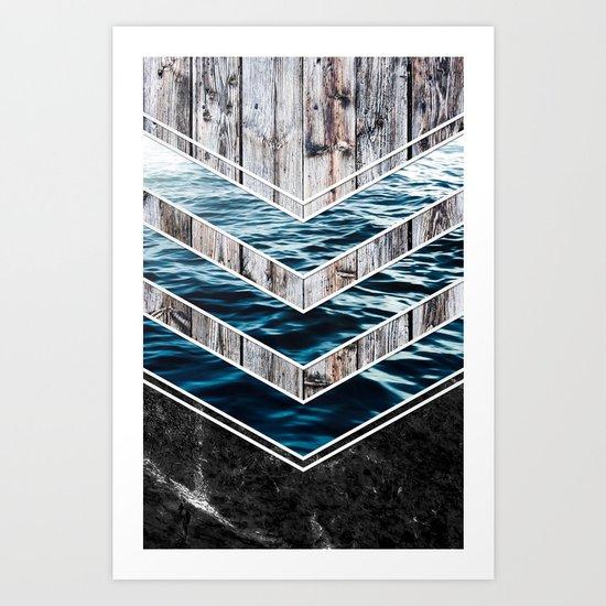 Striped Materials of Nature III Art Print