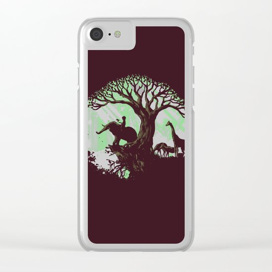The jungle says hello Clear iPhone Case
