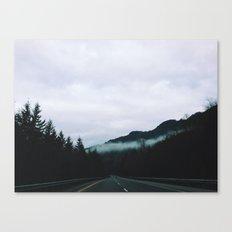 road through the fog Canvas Print
