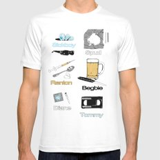 Trainspotting vector MEDIUM White Mens Fitted Tee