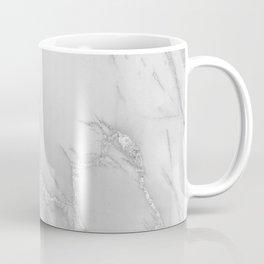 Marble Love Silver Metallic Coffee Mug