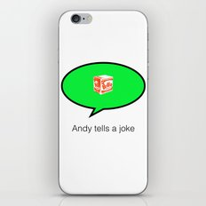 andy tells a clean joke iPhone & iPod Skin