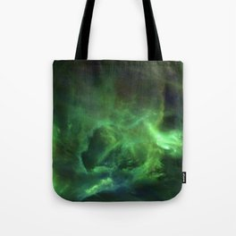 Ghostly Green Smoke Tote Bag
