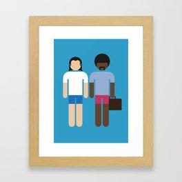 Vincent & Jules 02 Framed Art Print