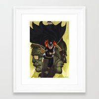batgirl Framed Art Prints featuring Batgirl by ImmarArt