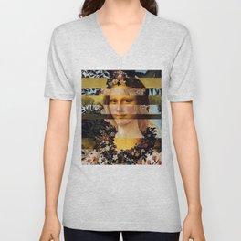 Leonardo's Mona Lisa & Botticelli's Flora Unisex V-Neck