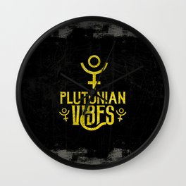Plutonian Vibes Wall Clock