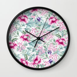 Floral Pattern 3 Wall Clock