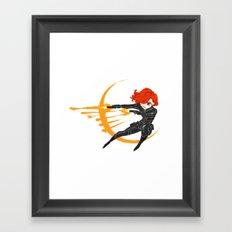 Minivengers - Black Widow Framed Art Print