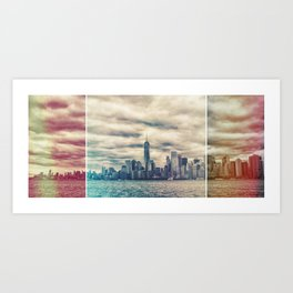 NYC Light Leak Art Print