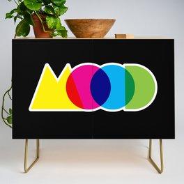Mood Meme Colorful Geometric Typography Credenza