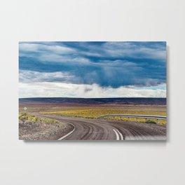 Purple road Metal Print