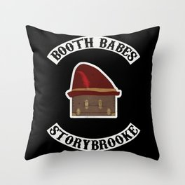 Booth Babes (Fake Motorcycle Club) Throw Pillow