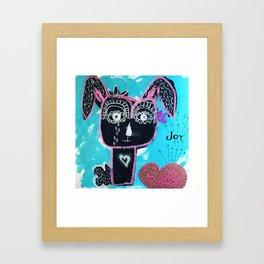 Joyful Rabbit Framed Art Print