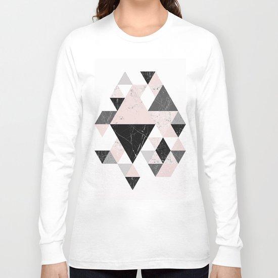 Triangle pattern modern geometric abstract ll Long Sleeve T-shirt