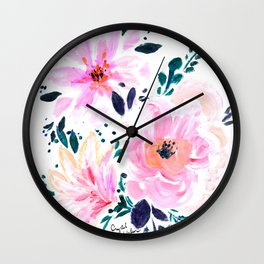 Floral Daydream Wall Clock