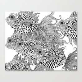 White Fish I Canvas Print
