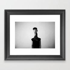 Dummy & Flowers Framed Art Print