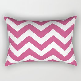 Fuchsia rose - violet color - Zigzag Chevron Pattern Rectangular Pillow