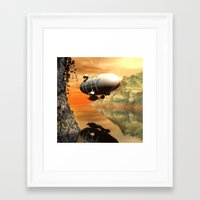 led zeppelin Framed Art Prints featuring Zeppelin by nicky2342