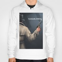 casablanca Hoodies featuring Cinema Classics: Casablanca by Raven Krupnow