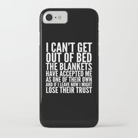 blankets iPhone & iPod Cases featuring THE BLANKETS HAVE ACCEPTED ME AS ONE OF THEIR OWN by CreativeAngel