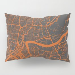 Brisbane Map Pillow Sham