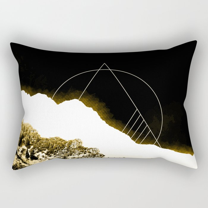 Golden Mountain Rectangular Pillow