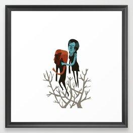Meio Bicho e Fogo Framed Art Print