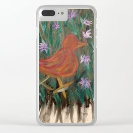 A little birdie told me. Clear iPhone Case