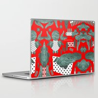 crocodile Laptop & iPad Skins featuring crocodile by BUBUBABA