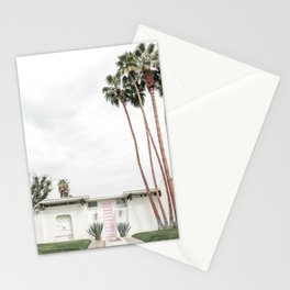 That Pink Door House Palm Springs,California Stationery Cards