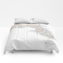 Detailed map of Florida Comforters