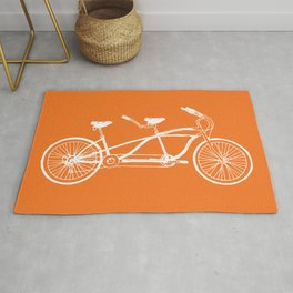 Tandem Bike Orange Rug